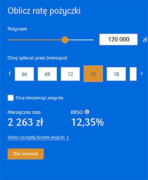 Kredyt Gotówkowy PKO BP kalkulator